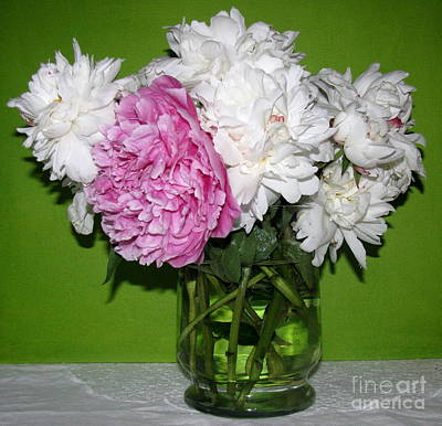 Art Print featuring the photograph Peonies Bouquet 3 by Margaret Newcomb