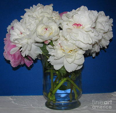 Art Print featuring the photograph Peonies Bouquet 5 by Margaret Newcomb