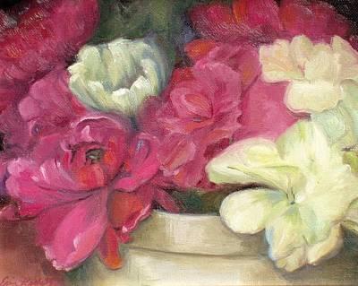 Painting - Peonies by Erin Rickelton
