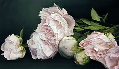 Painting - Peonies IIi, 114 X 195cm by Thomas Darnell