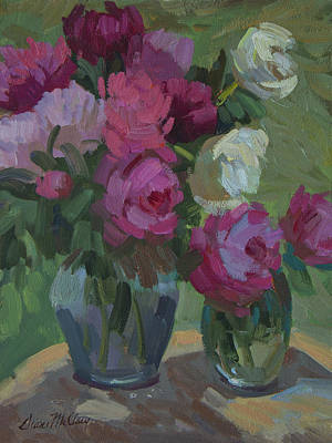 Painting - Peonies In The Shade by Diane McClary