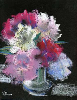 Pastel - Peonies by Lelia Sorokina