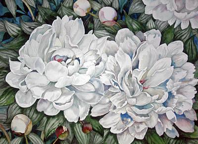 Painting - Peonies Love Ants by Helen Klebesadel