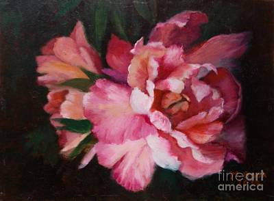 Peonies No 8 The Painting Art Print