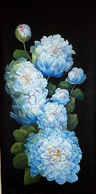 Painting - Peonies On Black by Patricia Rachidi