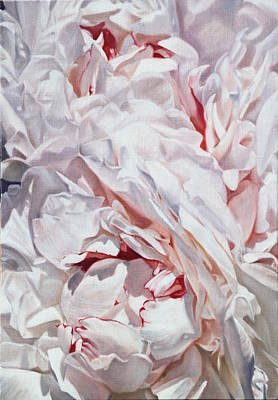 Painting - Peonies Petals 55 X 38cm by Thomas Darnell