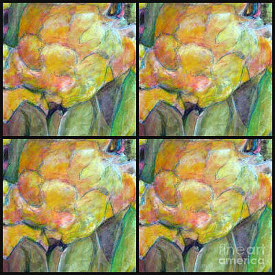 Painting - Peonies Quad  by Diane montana Jansson