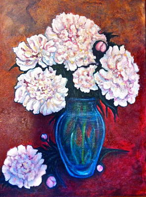 Painting - Peonies by Rae Chichilnitsky