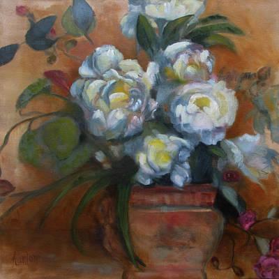 Painting - Peonies by Susan Hanlon