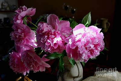 Photograph - Peonies2 by Galina Khlupina