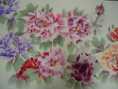 Peony  0725-5 Art Print