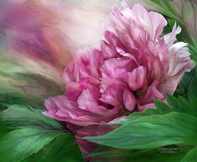 Mixed Media - Peony - 50 Shades Of Pink by Carol Cavalaris