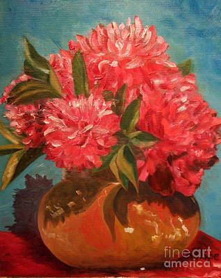 Painting - Peony by Calliope Thomas