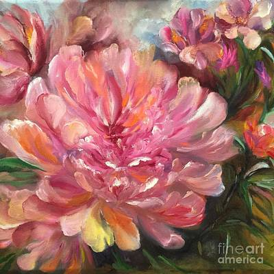 Painting - Peony by Irene Pomirchy