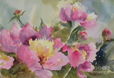 Painting - Peony Party by Christy Lemp