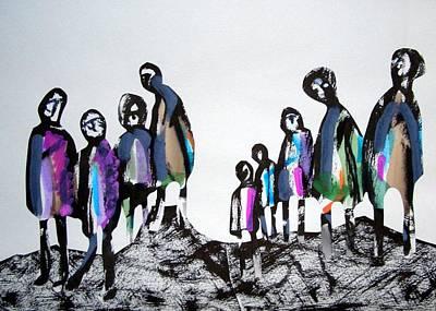 People 120913-3 Art Print by Aquira Kusume