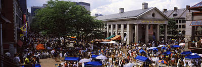 Marketplace Photograph - People At A Market, Quincy Market by Panoramic Images