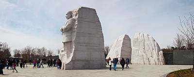 People At Martin Luther King Jr Art Print by Panoramic Images