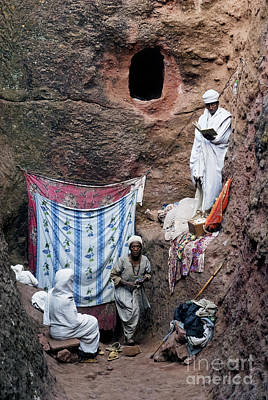 Photograph - People At Rock Hewn Churches Of Lalibela Ethiopia by Jacek Malipan