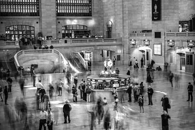 People At The Grand Central Station Art Print