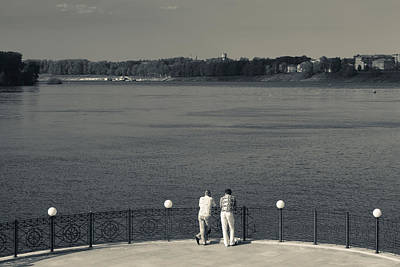 People By The Volga River, Uglich Art Print by Panoramic Images