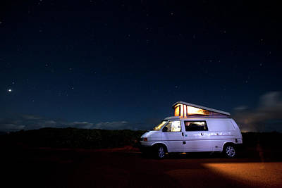 Photograph - People Camping In A Van by Jordan Siemens