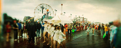 Of Mermaid Photograph - People Celebrating In Coney Island by Panoramic Images