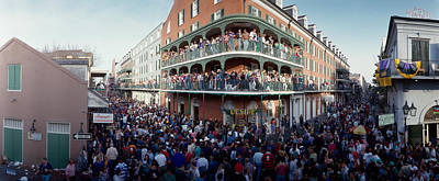 Crowd Scene Photograph - People Celebrating Mardi Gras Festival by Panoramic Images