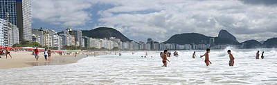 Enjoyment Photograph - People Enjoying On Copacabana Beach by Panoramic Images