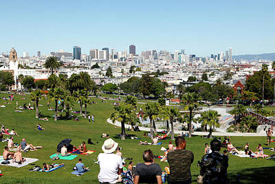 Dolores Photograph - People Enjoying The View Of San by Jill Schneider