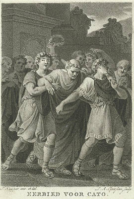 People Go To The Feast In Honor Of Cato, Print Maker Art Print