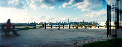 Williamsburg Photograph - People In A Park, East River Park, East by Panoramic Images