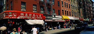 People In A Street, Mott Street Art Print by Panoramic Images