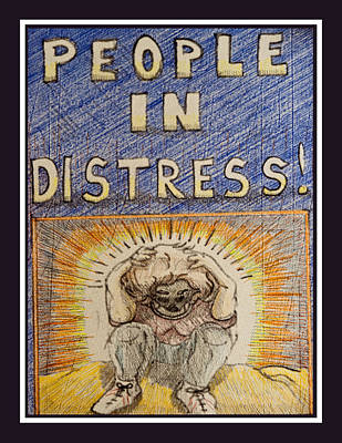 Drawing - People In Distress by Jason Girard