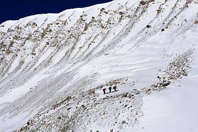 Kali Photograph - People In Mountain Landscape by Aidan Moran