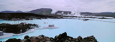 People In The Hot Spring, Blue Lagoon Art Print by Panoramic Images