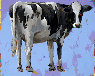 Cow Wall Art - Painting - People Like Cows #11 by David Palmer