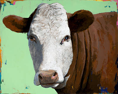 Cow Wall Art - Painting - People Like Cows #14 by David Palmer