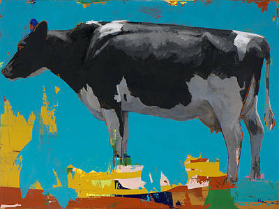 Cow Wall Art - Painting - People Like Cows #15 by David Palmer