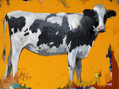 Cow Art Painting - People Like Cows #16 by David Palmer