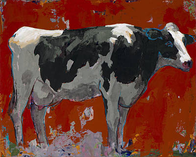 Pop Painting - People Like Cows #3 by David Palmer