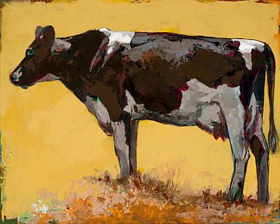 Farm Animal Wall Art - Painting - People Like Cows #6 by David Palmer