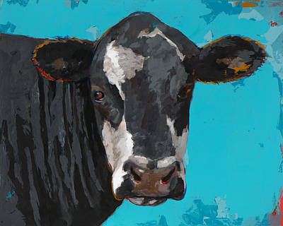 Cow Wall Art - Painting - People Like Cows #8 by David Palmer
