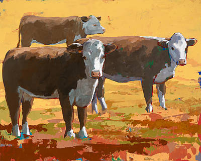 Painting - People Like Cows #9 by David Palmer