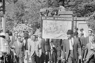 People March In Memory Of Negro Art Print