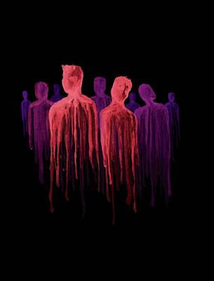 Inverted Painting - People Of The Dark by Anthony McCracken