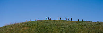 People On A Hill, Baldwin Hills Scenic Art Print by Panoramic Images