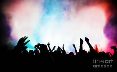People Photograph - People On Music Concert by Michal Bednarek