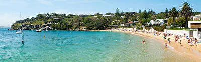 Sydney Vacation Photograph - People On The Beach, Camp Cove, Watsons by Panoramic Images