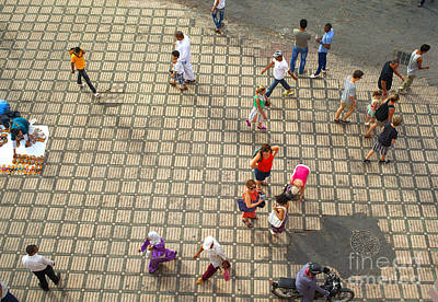 Photograph - People On The Famous Jemaa El Fna Square In Marrakesh by Patricia Hofmeester